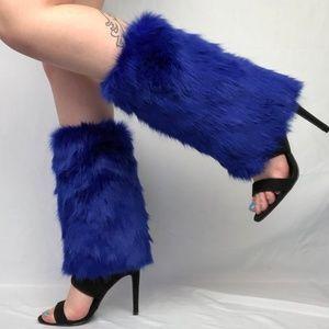 * Royal Warming Heart * Velvet Fur High Heel Boots